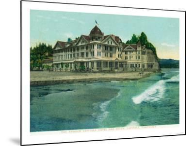 Exterior View of the Famous Capitola Hotel - Capitola, CA-Lantern Press-Mounted Art Print