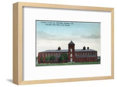 Exterior View of the Currier Co Silk Mills - Petaluma, CA-Lantern Press-Framed Art Print