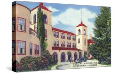 Exterior View of the Sonoma Mission Inn - Boyes Hot Springs, CA-Lantern Press-Stretched Canvas Print