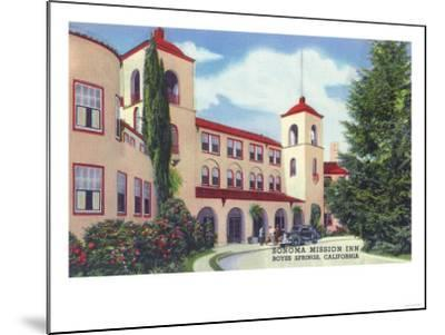 Exterior View of the Sonoma Mission Inn - Boyes Hot Springs, CA-Lantern Press-Mounted Art Print