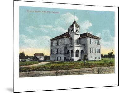 Exterior View of the Grammar School - Yuba City, CA-Lantern Press-Mounted Art Print