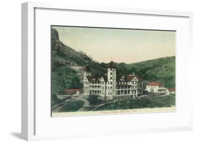 Exterior View of Tuscan Springs - Red Bluff, CA-Lantern Press-Framed Art Print