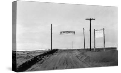 Dirt Road to Ocean Beach, Worlds Longest Beach - Long Beach, WA-Lantern Press-Stretched Canvas Print