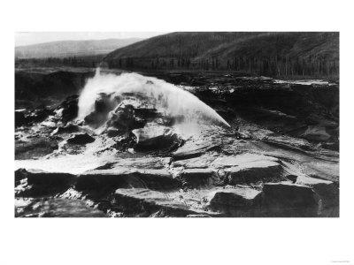 Hydraulic Mining near Fairbanks - Fox, AK-Lantern Press-Framed Art Print