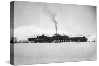 Exterior View of the Sun Valley Lodge - Ketchum, ID-Lantern Press-Stretched Canvas Print