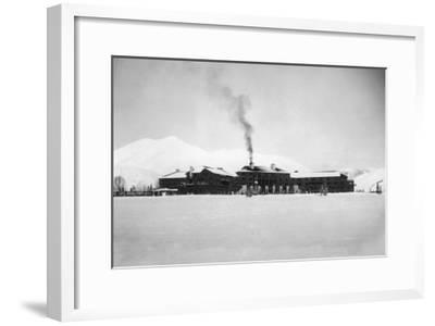 Exterior View of the Sun Valley Lodge - Ketchum, ID-Lantern Press-Framed Art Print