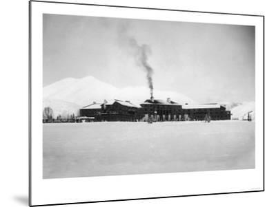 Exterior View of the Sun Valley Lodge - Ketchum, ID-Lantern Press-Mounted Art Print