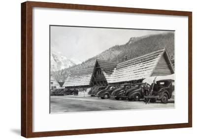 Exterior View of the Hwy Dept Recreation Center - Snoqualmie Pass, WA-Lantern Press-Framed Art Print