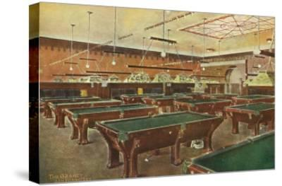 Interior View of the Graney Pool Hall - San Francisco, CA-Lantern Press-Stretched Canvas Print