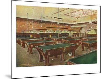 Interior View of the Graney Pool Hall - San Francisco, CA-Lantern Press-Mounted Art Print