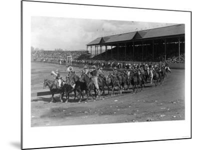 Cowboy Band in the Grand Round-Up Parade - Pendleton, OR-Lantern Press-Mounted Art Print