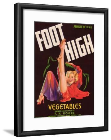 Foot High Vegetable Label - Firebaugh, CA-Lantern Press-Framed Art Print
