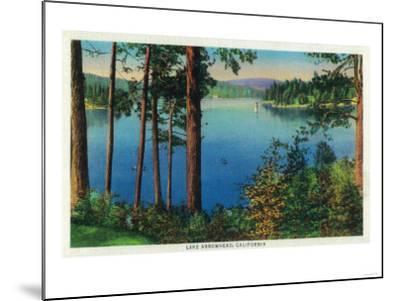Lake Arrowhead View - Lake Arrowhead, CA-Lantern Press-Mounted Art Print