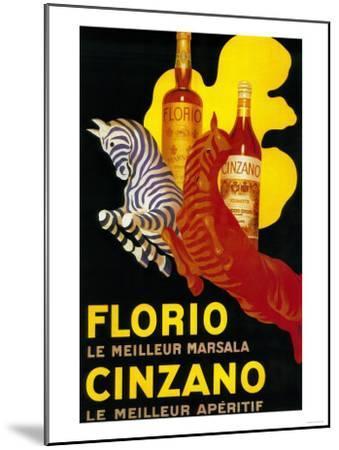 Florio Cinzano Vintage Poster - Europe-Lantern Press-Mounted Art Print