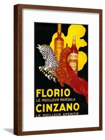 Florio Cinzano Vintage Poster - Europe-Lantern Press-Framed Art Print
