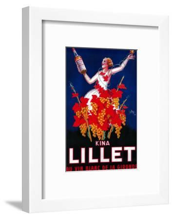 Kina Lillet Vintage Poster - Europe-Lantern Press-Framed Art Print