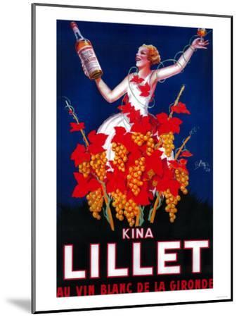 Kina Lillet Vintage Poster - Europe-Lantern Press-Mounted Art Print