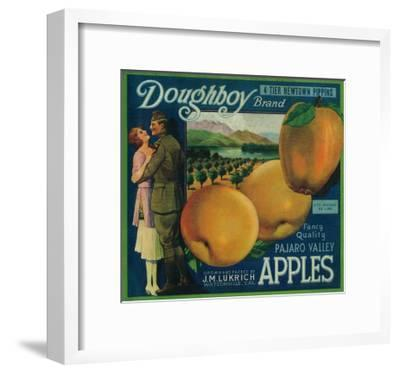Doughboy Apple Crate Label - Watsonville, CA-Lantern Press-Framed Art Print