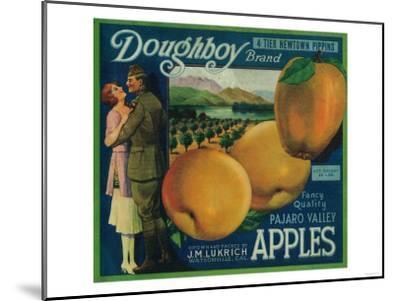 Doughboy Apple Crate Label - Watsonville, CA-Lantern Press-Mounted Art Print