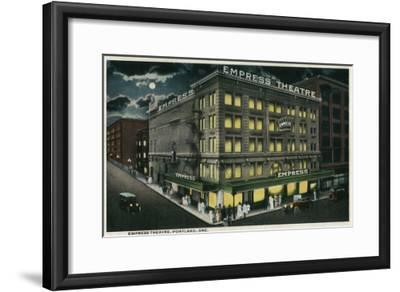 Empress Theatre in Portland, Oregon - Portland, OR-Lantern Press-Framed Art Print