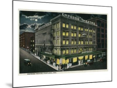 Empress Theatre in Portland, Oregon - Portland, OR-Lantern Press-Mounted Art Print