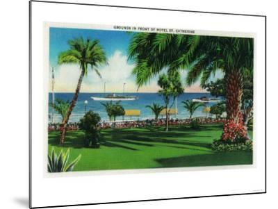 Grounds in front of Hotel St. Catherine - Catalina Island, CA-Lantern Press-Mounted Art Print