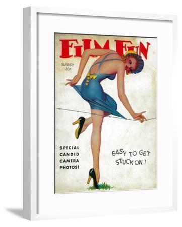 Film Fun Magazine Cover-Lantern Press-Framed Art Print