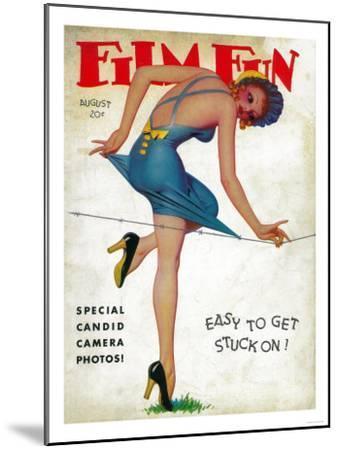 Film Fun Magazine Cover-Lantern Press-Mounted Art Print