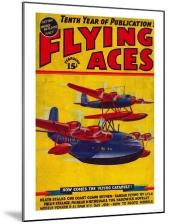 Flying Aces Magazine Cover-Lantern Press-Mounted Art Print