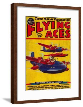 Flying Aces Magazine Cover-Lantern Press-Framed Art Print