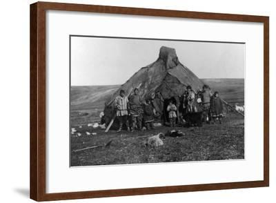 Eskimo Igloo Near Nome, Alaska Photograph - Nome, AK-Lantern Press-Framed Art Print