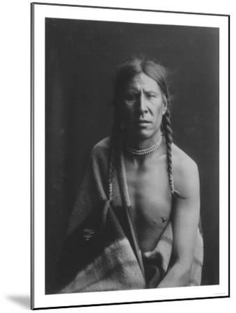 Heavy Shield Native American Indian Curtis Photograph-Lantern Press-Mounted Art Print
