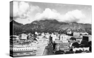 Honolulu, Hawaii City View from Aloha Tower Photograph - Honolulu, HI-Lantern Press-Stretched Canvas Print