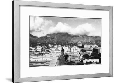 Honolulu, Hawaii City View from Aloha Tower Photograph - Honolulu, HI-Lantern Press-Framed Art Print