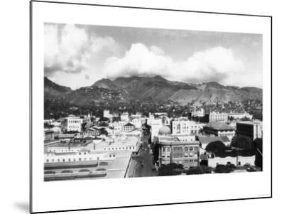 Honolulu, Hawaii City View from Aloha Tower Photograph - Honolulu, HI-Lantern Press-Mounted Art Print