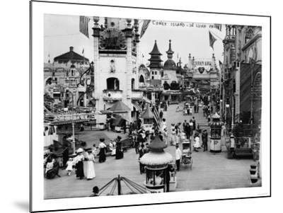 Luna Park and Rides at Coney Island, NY Photograph - Coney Island, NY-Lantern Press-Mounted Art Print