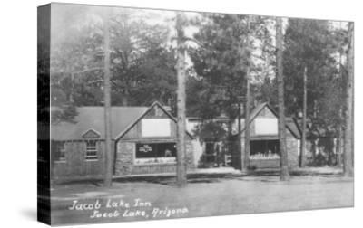 Jacob Lake Inn in Jacob Lake, Arizona Photograph - Jacob Lake, AZ-Lantern Press-Stretched Canvas Print