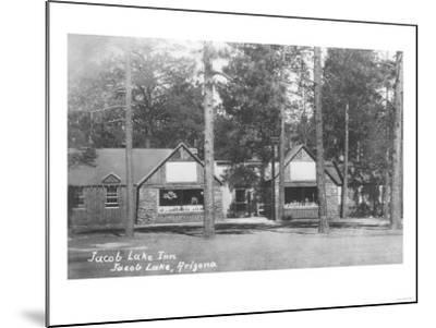 Jacob Lake Inn in Jacob Lake, Arizona Photograph - Jacob Lake, AZ-Lantern Press-Mounted Art Print