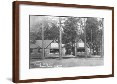 Jacob Lake Inn in Jacob Lake, Arizona Photograph - Jacob Lake, AZ-Lantern Press-Framed Art Print
