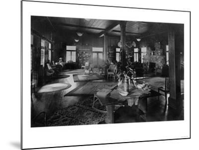 Lake Crescent Tavern Lobby Washington Photograph - Lake Crescent, WA-Lantern Press-Mounted Art Print
