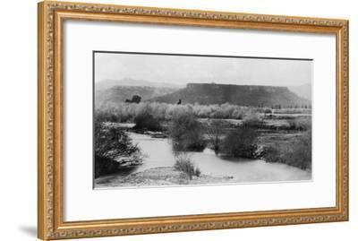 Medford, Oregon View of Table Rock Mountain Photograph - Medford, OR-Lantern Press-Framed Art Print