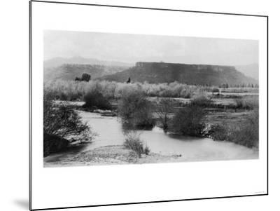 Medford, Oregon View of Table Rock Mountain Photograph - Medford, OR-Lantern Press-Mounted Art Print