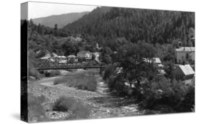 Doneieville, California Town View Photograph - Downieville, CA-Lantern Press-Stretched Canvas Print