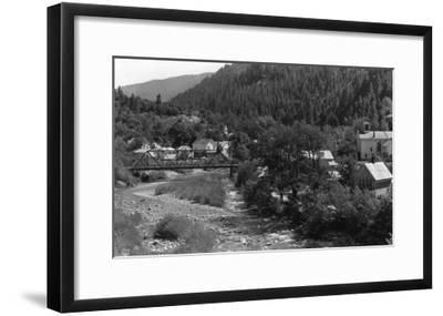 Doneieville, California Town View Photograph - Downieville, CA-Lantern Press-Framed Art Print