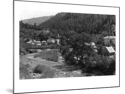 Doneieville, California Town View Photograph - Downieville, CA-Lantern Press-Mounted Art Print