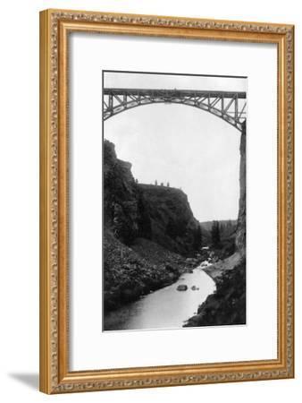 Crooked River Bridge in Central Oregon Photograph - Central Oregon-Lantern Press-Framed Art Print