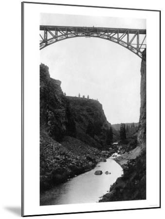Crooked River Bridge in Central Oregon Photograph - Central Oregon-Lantern Press-Mounted Art Print