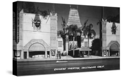 Hollywood, California Chinese Theatre View Photograph - Hollywood, CA-Lantern Press-Stretched Canvas Print