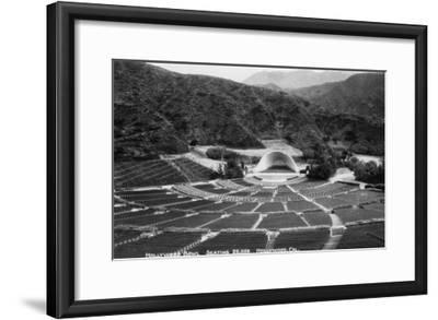 Hollywood, California Hollywood Bowl View Photograph - Hollywood, CA-Lantern Press-Framed Art Print