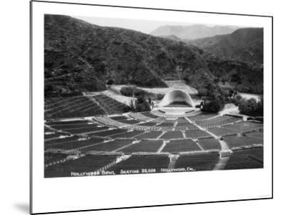 Hollywood, California Hollywood Bowl View Photograph - Hollywood, CA-Lantern Press-Mounted Art Print
